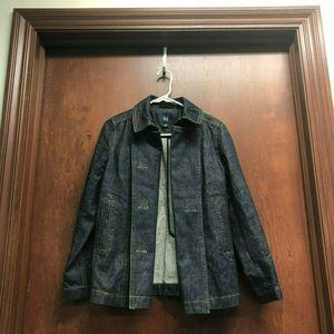Gap Women Blue Jean Jacket Size XS Denim Dark